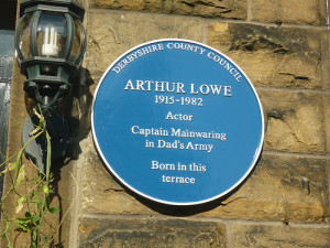 His plaque at Hayfield -  Photo  by  Libraryem