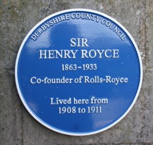 The  Henry Royce plaque
