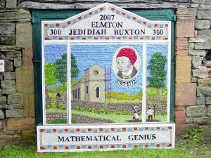 Well dressing in honour of Jedidiah Buxton