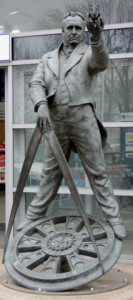 Stephenson's Statue outside Chesterfield railway station