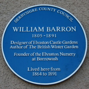 William Barron's plaque Borrowash