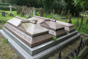 His grave in St.Helen's Church yard, Darley Dale